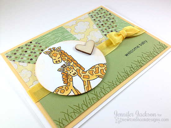 Mother and baby Giraffee Card by Jennifer Jackson | Wild Child Stamps by Newton's Nook Designs