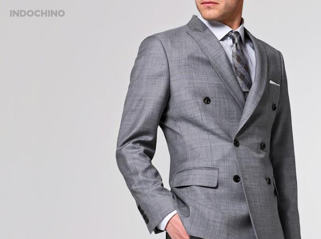 Indochino double-breasted suit