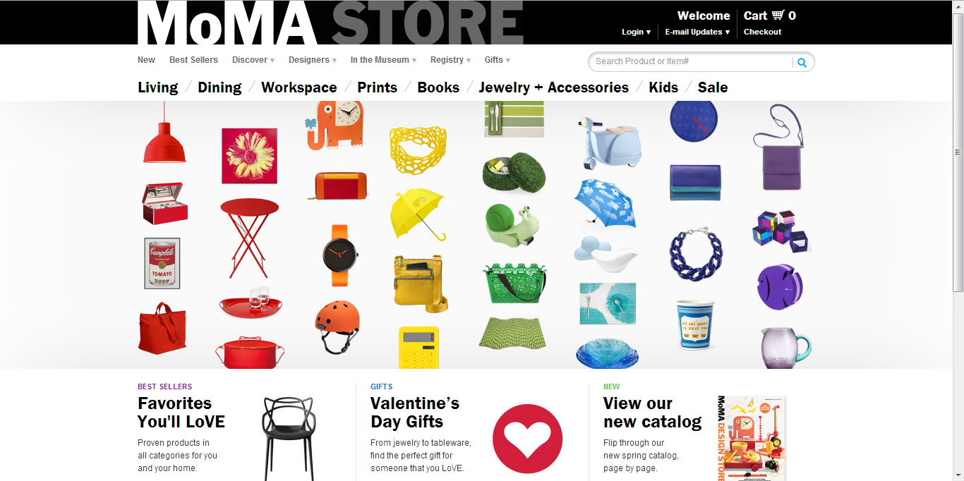 web design 101 research homepage research moma store. Black Bedroom Furniture Sets. Home Design Ideas