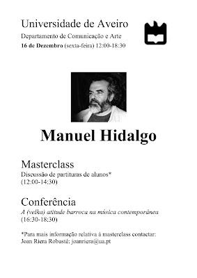 Manuel Hidalgo em Aveiro