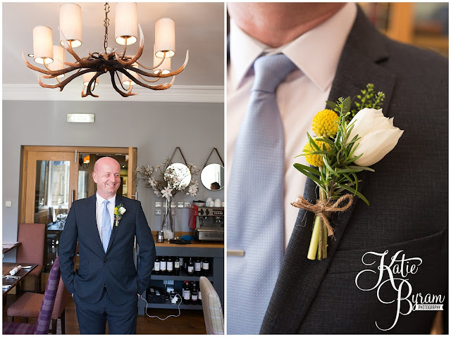 buttonholes, herb buttonholes, alnwick treehouse wedding, alnwick treehouse, katie byram photography, alnwick gardens wedding, northumberland wedding venue, relaxed wedding photography, quirky wedding photographer