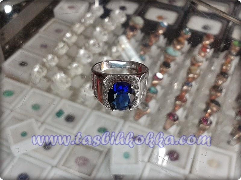 Cincin Perak Mata Alaska Biru