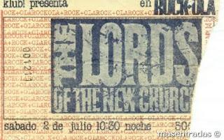 entrada de concierto de the lords of the new churchs