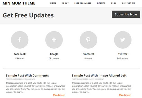 minimum theme responsive blogger template