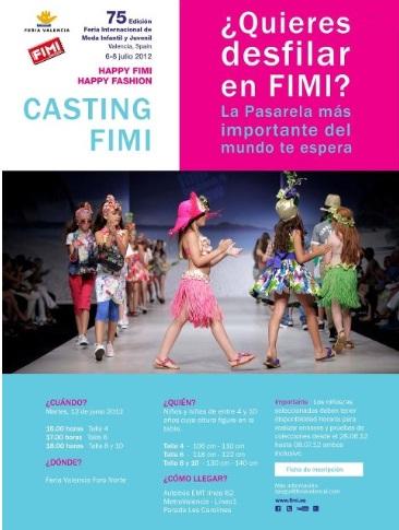 CASTING INFANTIL FIMI FASHION SHOW JUNIO 2012