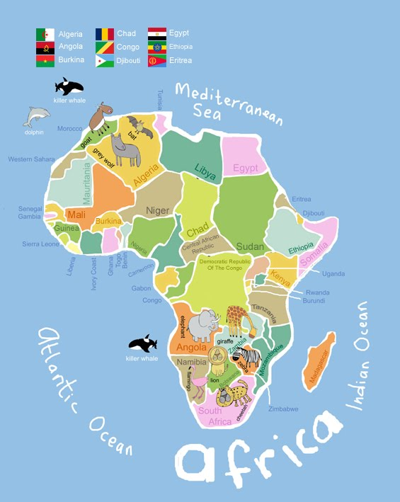 Map Of Africa For Kids My kids map of africa.