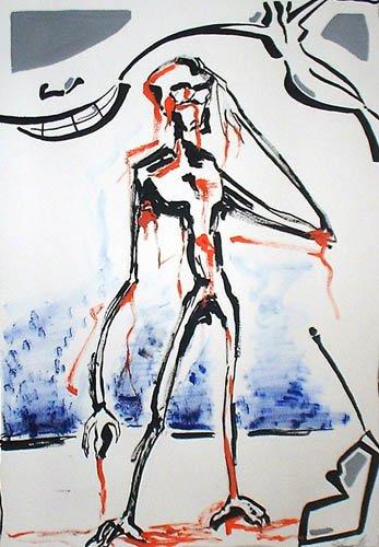 il saggio dipinto pittura orme magiche quadro disegno pittura spirituale arte zen