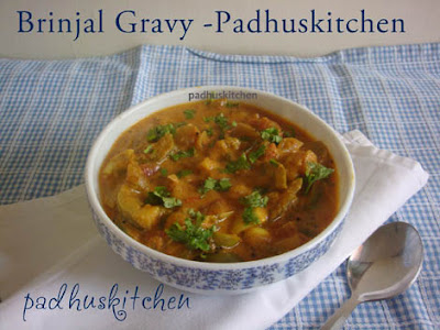 Brinjal Masala(gravy)-Side dish for Pulao and Coconut rice