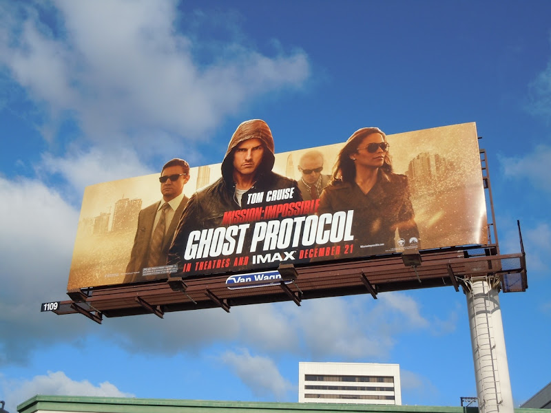Mission Impossible 4 Ghost Protocol billboard