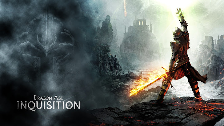 Warrior Flaming Sword Dragon Age 3 Inquisition