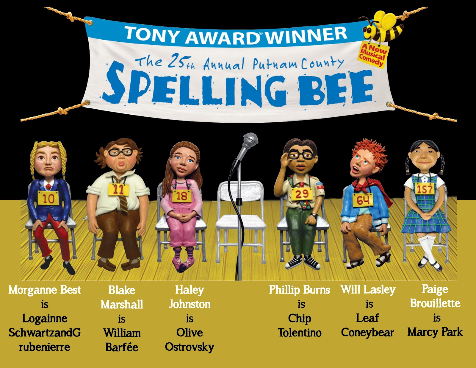Act too players cast for 25th annual putnam county spelling bee