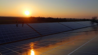 Solar Panels on Industrial Roof
