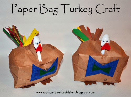 Paper Bag Turkey Craft for Kids #thanksgiving