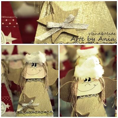 aniołek z drewna