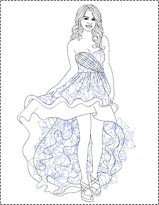 selena gomez coloring pages nice colouring pages