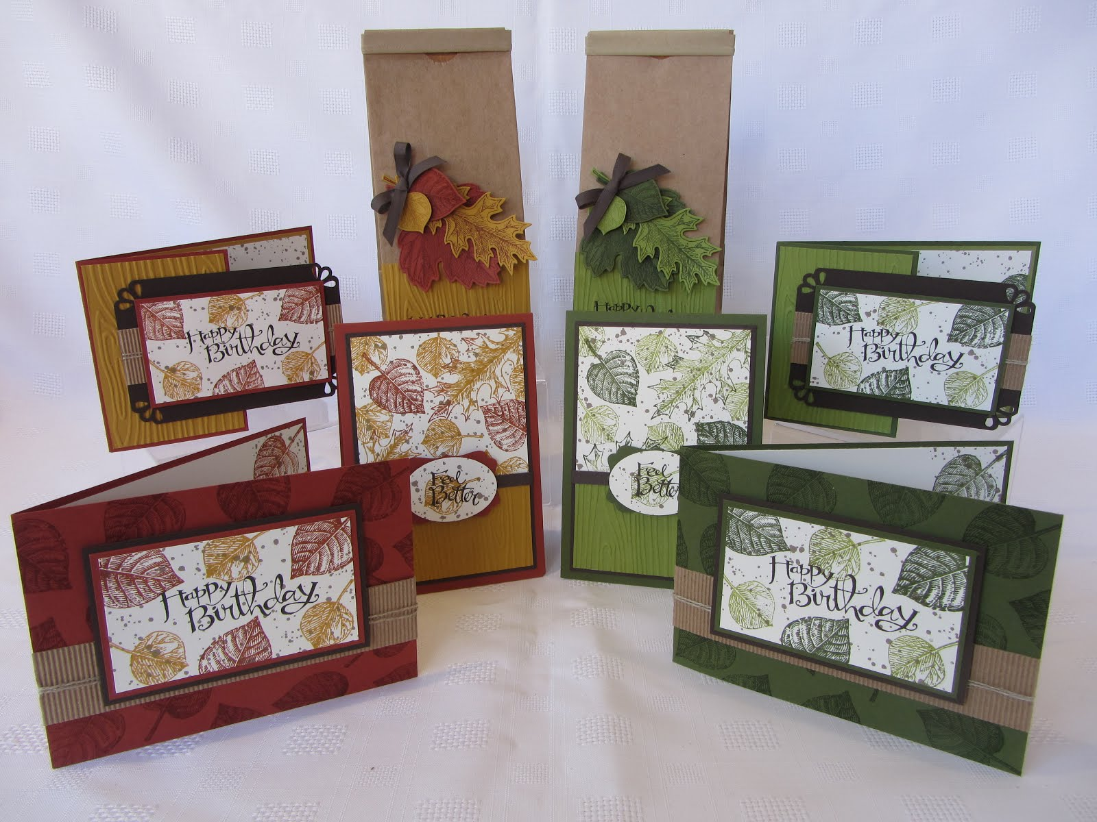 Vintage Leaves Stamp Class