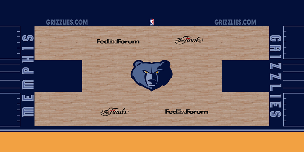 NBA 2K14 Memphis Grizzlies HD Court Mod [NBA on TNT ...