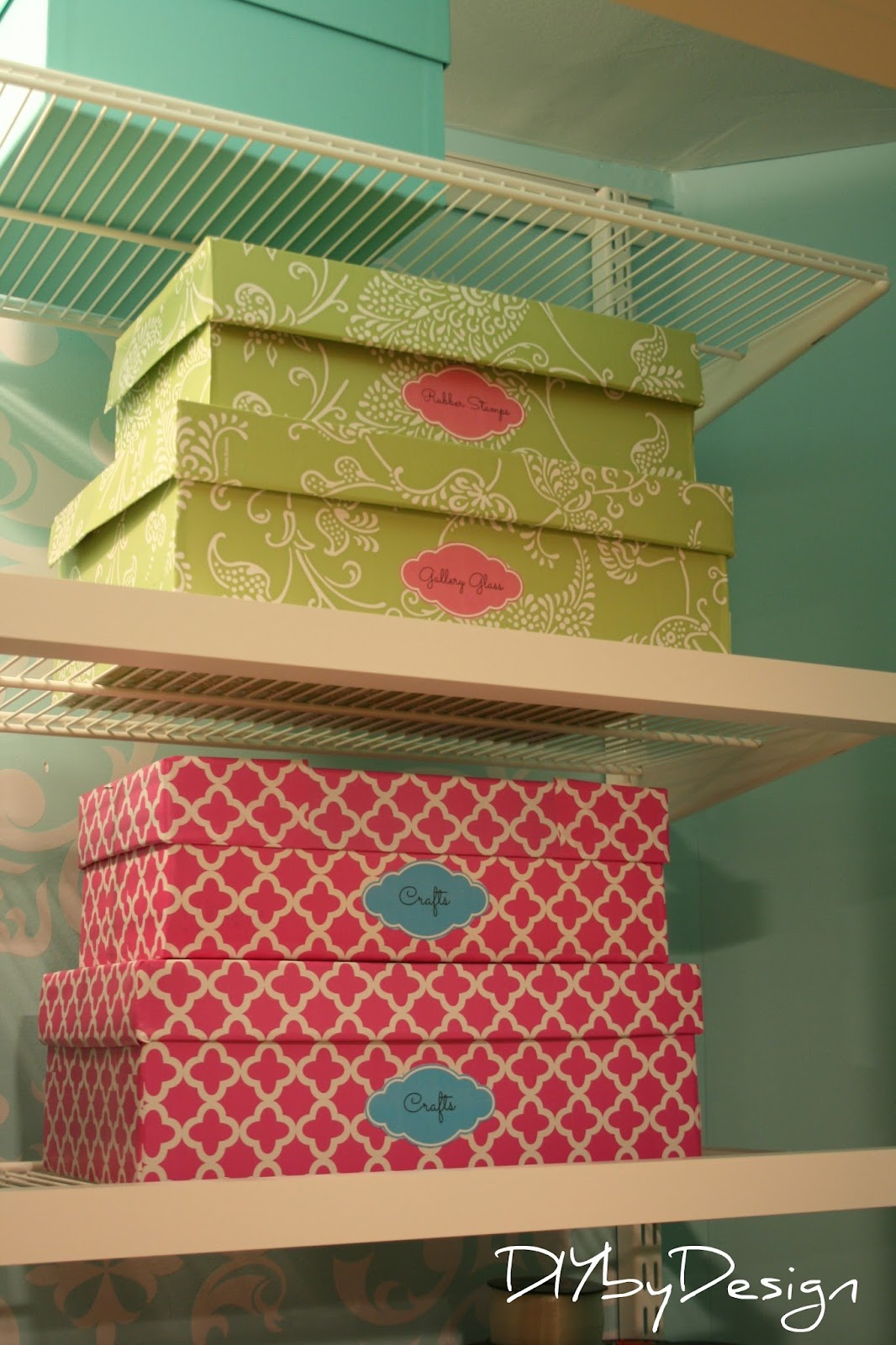 Decorative Boxes For Closets : Diy by design craft closet projects