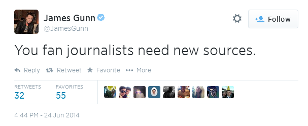 James Gunn confirms casting and spoilers for Guardians of The Galaxy