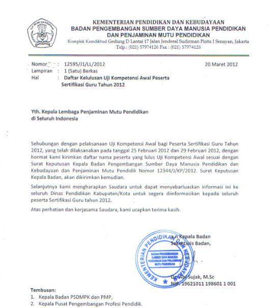 surat edaran kelulusan uka 2012 buat lpmp provinsi