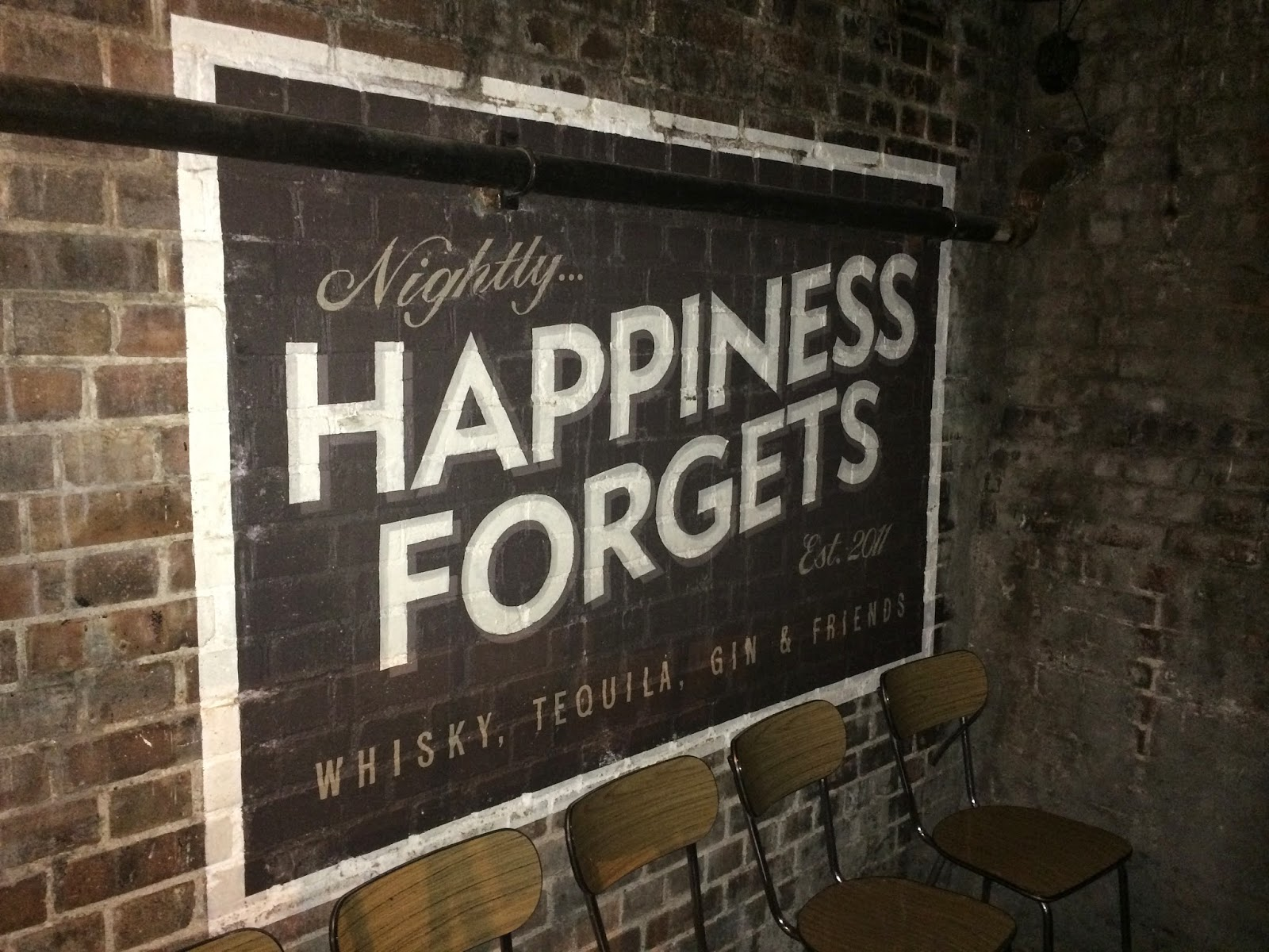 happiness forgets sign hoxton
