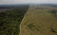 In this Sept. 15, 2009 file photo, a deforested area is seen near Novo Progresso in Brazil's northern state of Para. (Credit: AP Photo/Andre Penner, File) Click to Enlarge.