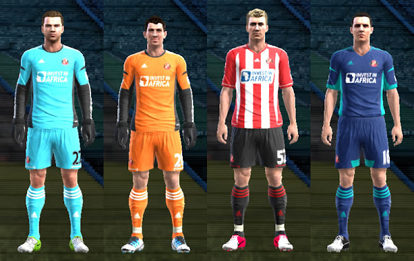 PES 2012 Kits Sunderland 2012/13 by HR FCB