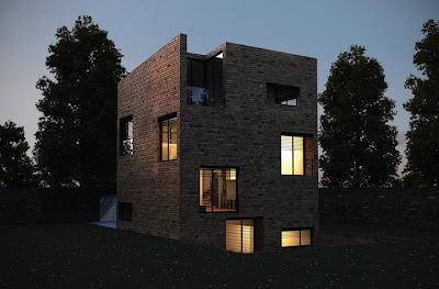stucco over brick - modern architecture