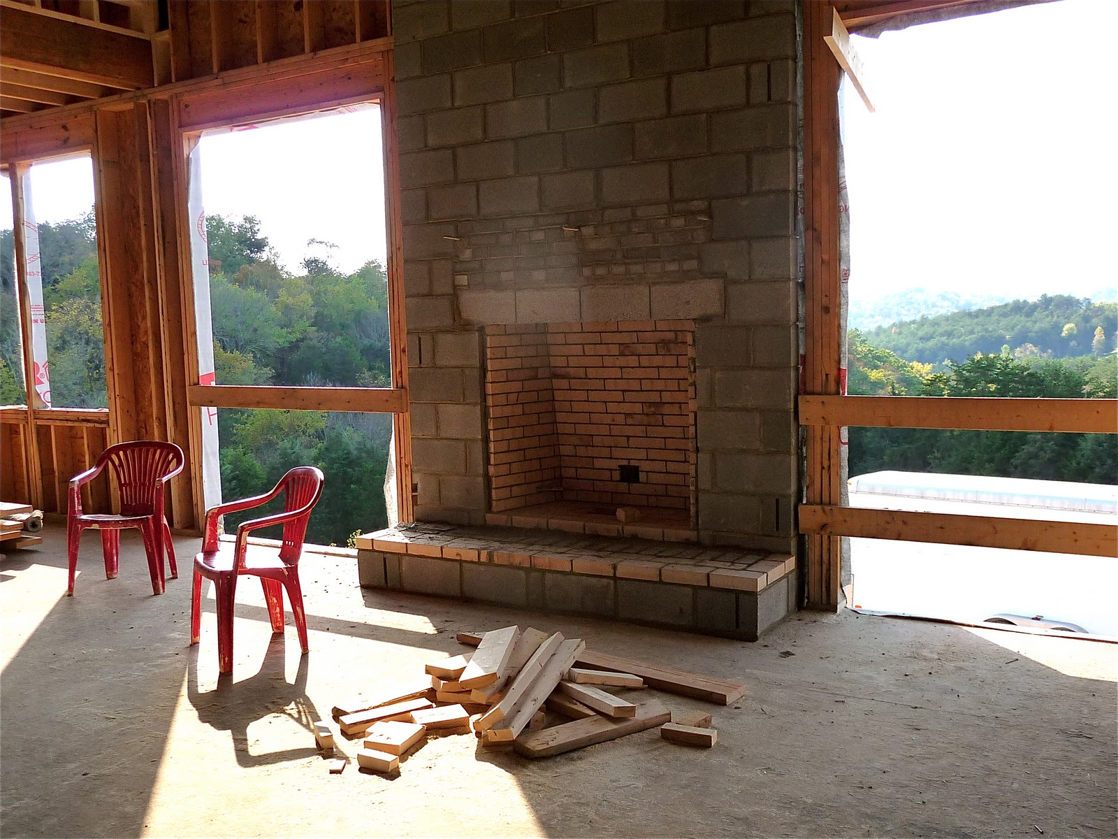 news from the hill construction progress we u0027ve got fireplaces