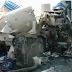 Um acidente entre três caminhões deixou duas pessoas mortas no sábado (1º) na BR-153...