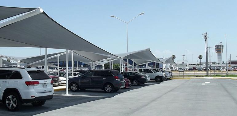 Sistemas estructrales unam velarias for Toldos para estacionamiento