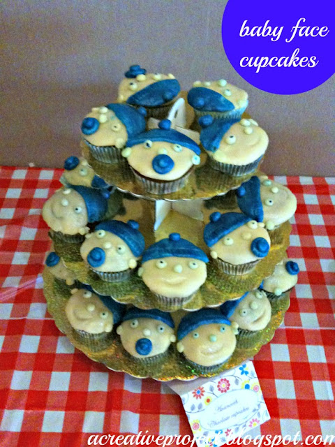 baby shower cupcakes, baby boy cupcakes