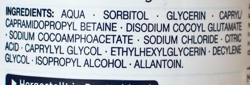 Balea Med Ultra Sensitive Foam ingrediente