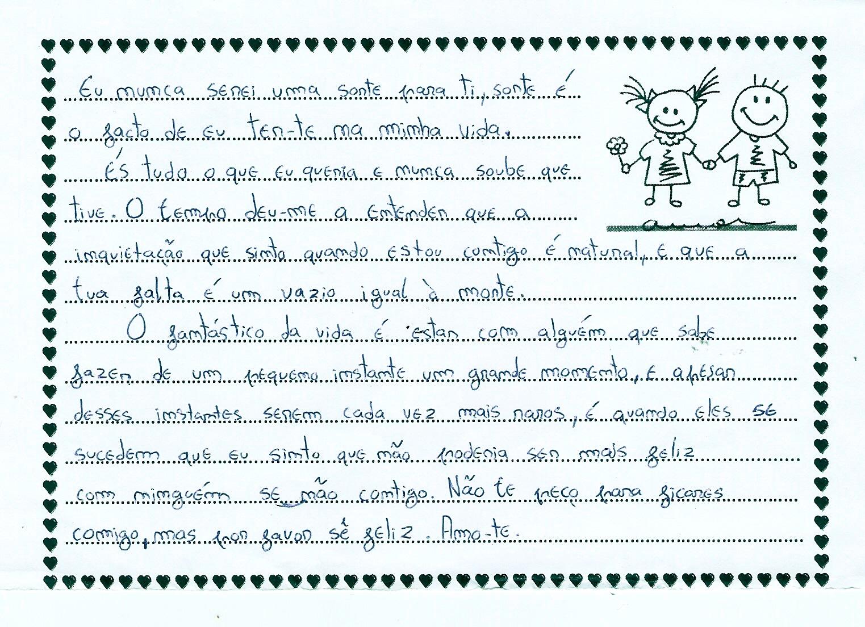 carta amor em portugues: