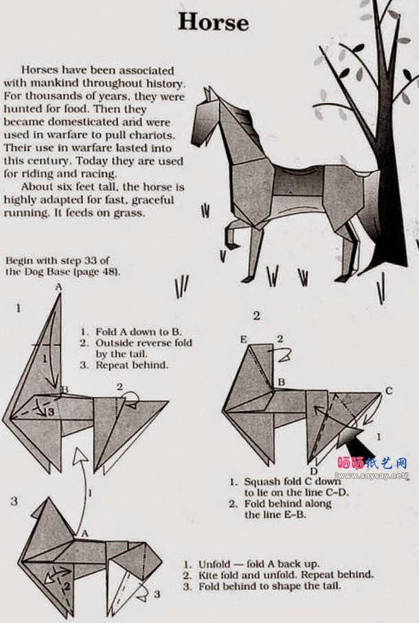 Origami donkey instructions
