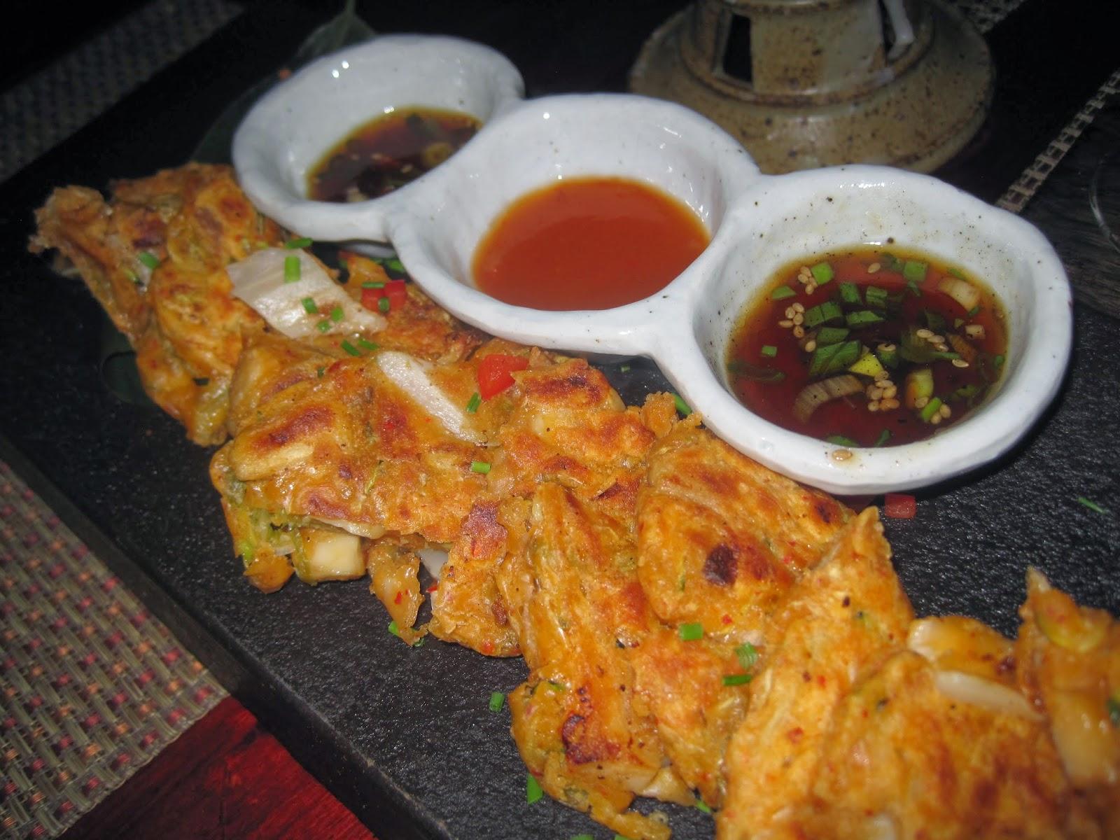 Spicy Kimchi Mushroom Pancakes - Hangawi New York