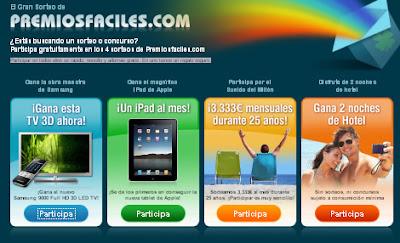 Gana un TV, iPad, 3.000 € o una noche de hotel
