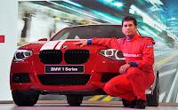 Sachin Tendulkar at the Unveil of BMW 1 series car