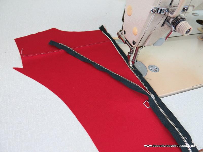 paso a paso para coser una cremallera