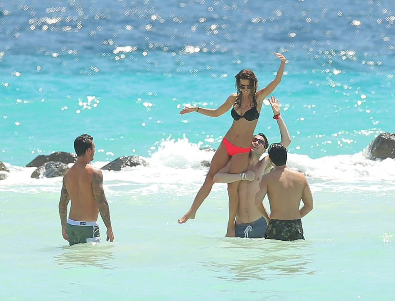 from Brenden audrina patridge at the beach with boyfiend