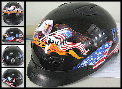 black eagle flag shorty motorcycle helmets