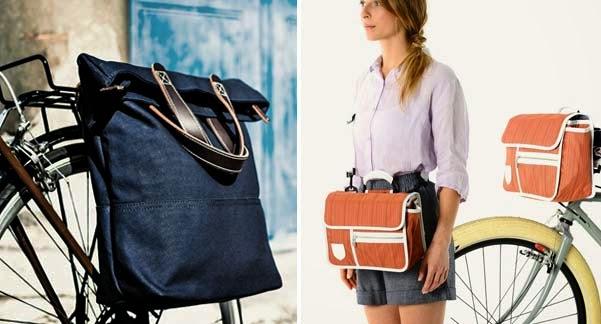 Complementos y accesorios originales para bicicleta de mujer: bolsos.