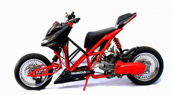 motor modifikasi beat velg 17
