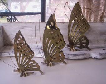 Decoración, Accesorios de Metal, Mariposas