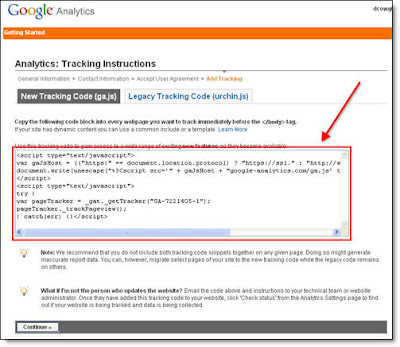 Install Google Analytics On Your Blog | Sharing SEO