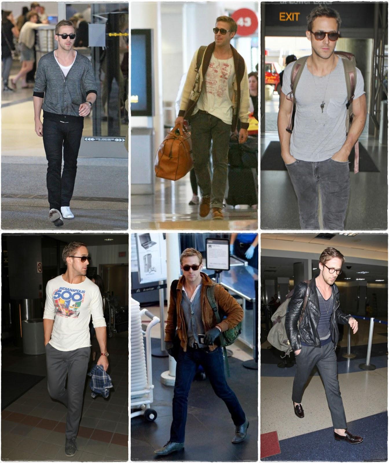 Ryan Gosling - Airport style