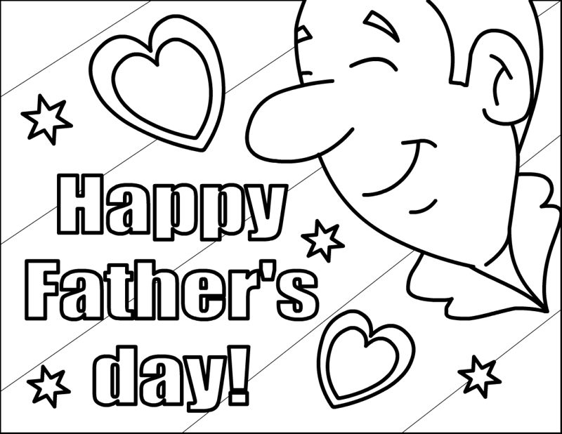 June Printable Coloring Pages Father's Day Printables