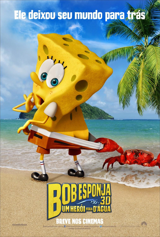 Pôster/capa/cartaz nacional de BOB ESPONJA: UM HERÓI FORA D'ÁGUA (The SpongeBob Movie: Sponge Out of Water)