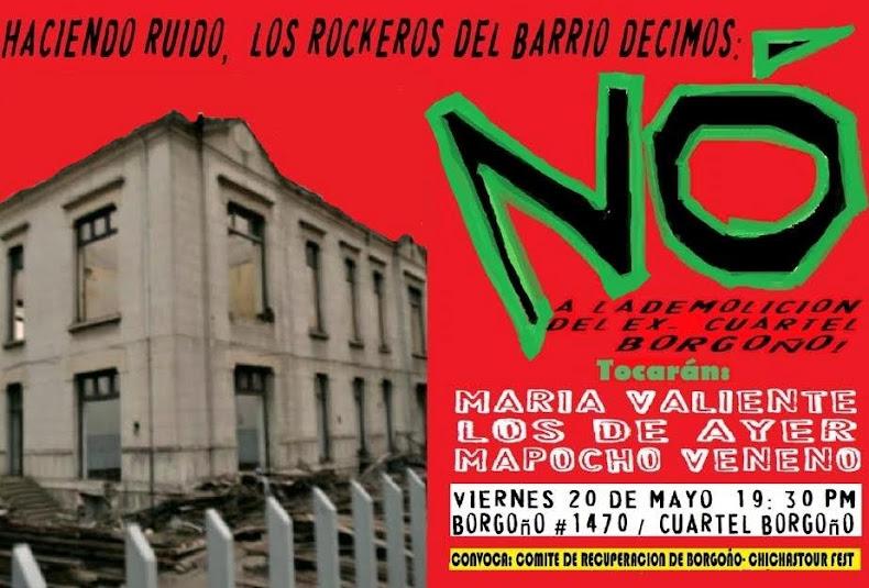 SANTIAGO: ACTIVIDAD NO A LA DEMOLICIÓN DEL CUARTEL BORGOÑO