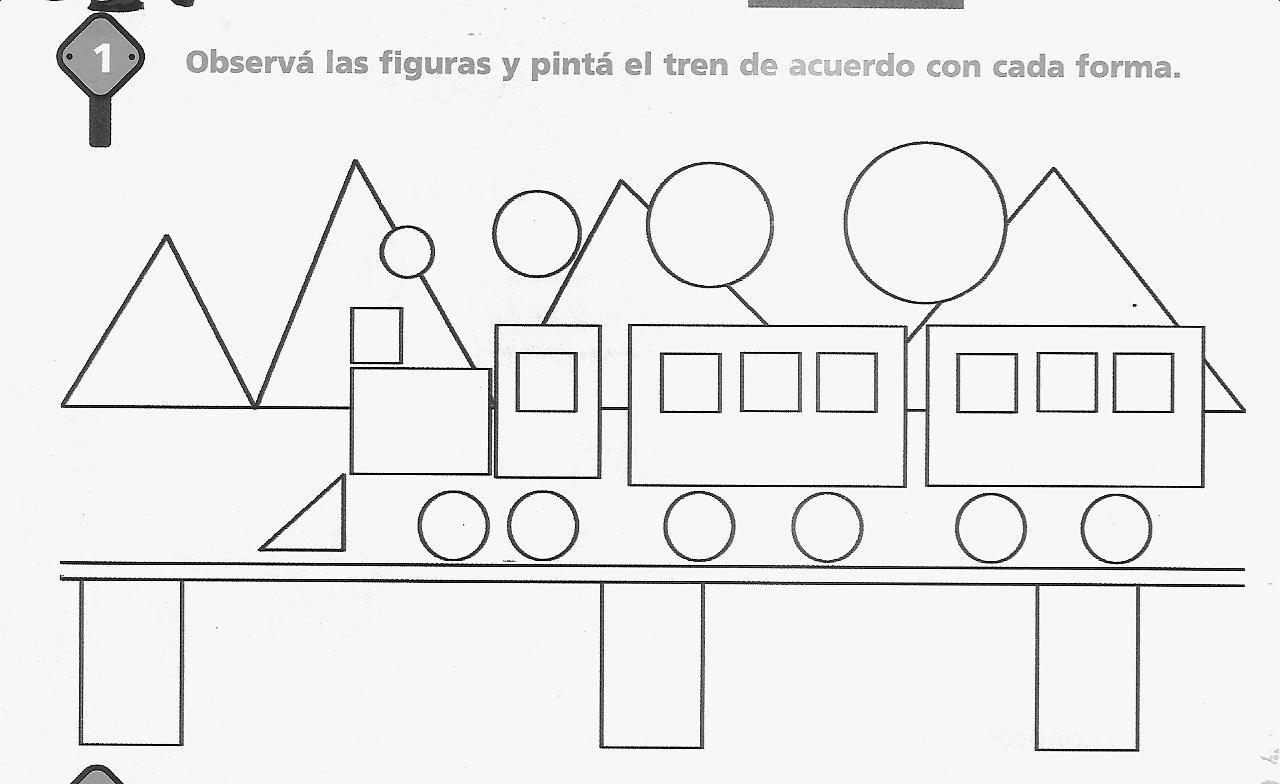 Imagenes De Circulo Cuadrado Triangulo Rectangulo Para Colorear ...